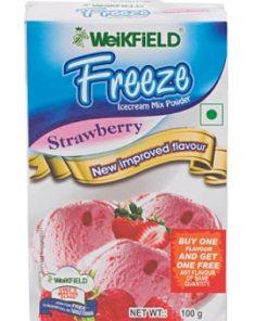 WEIKFIELD STRAWBERRY ICE CREAM MIX POWDER 100 GM