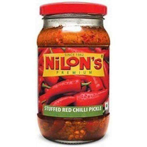 NILON'S-PREMIUM STUFFED RED CHILLI PICKLE-400 G
